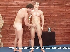 gay muscle wrestling : twinks giving blowjobs